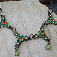 Emerald And Orange Necklace