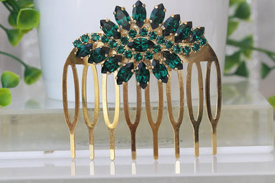 Emerald Green Hair Comb