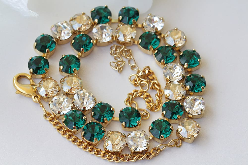 Emerald Victorian Necklace