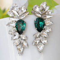 Emerald Wedding Earrings