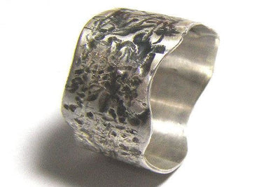 Engraved Silver Band Ring