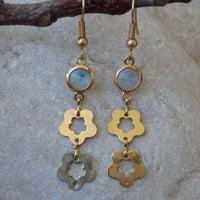 Floral Birthstone Earrings