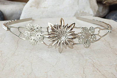 Floral Bridal Tiara For Wedding