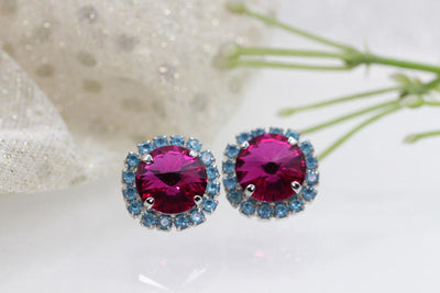 Fuchsia Pink Earrings