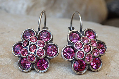 Fuchsia Swarovski Earrings