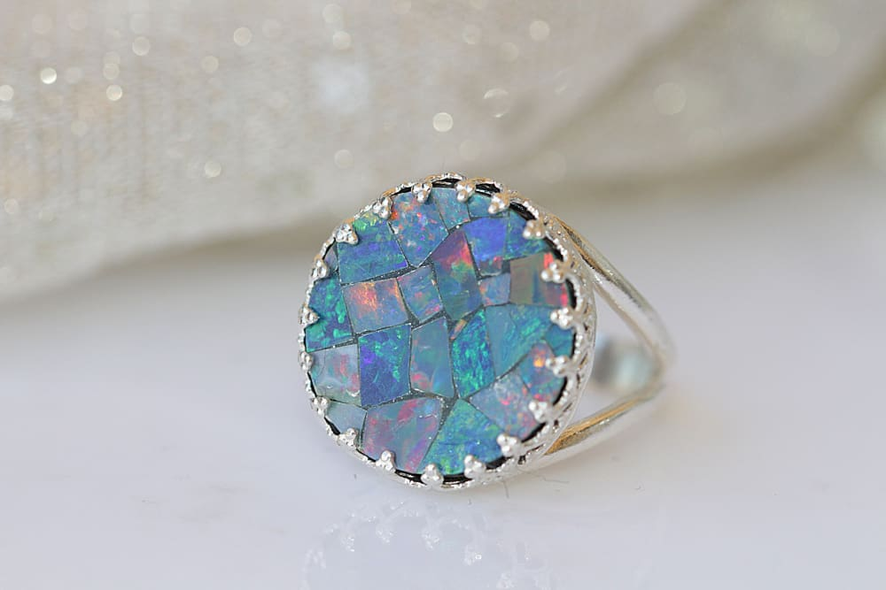 Genuine Australian Opal Ring