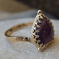 Gold Amethyst Ring