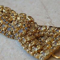 Gold Braided Swarovski Bracelet