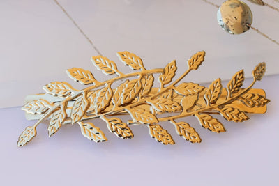 Gold Leaf Barrette
