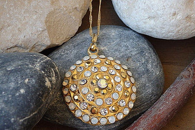 Gold Swarovski Necklace