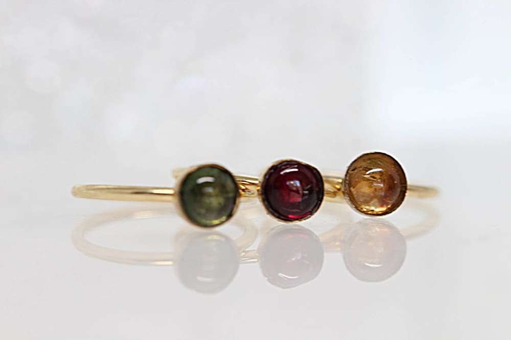 Gold Tourmaline Ring