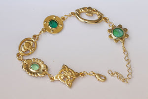 Green Claddagh Bracelet