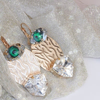 Green Eye Earrings