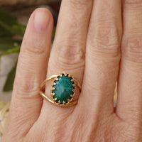 Green Gemstone Ring