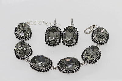 Grey Jewelry Set