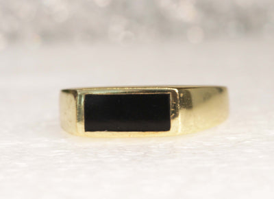Onyx Signet Ring, Goldfilled Ring, Women signet ring, Rings for him her,Black Gold Ring, Black Stone Ring,Onyx Mens Skinny Ring,Husband gift