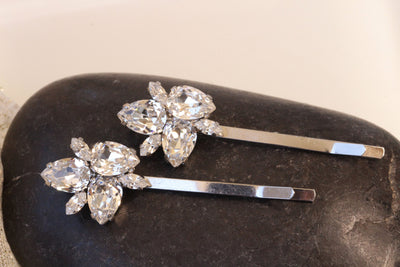 SWAROVSKI BOBBY PINS, Bridal Bobby Pin, Wedding Hair Pins, Sparkly Bobby Pin, Bridal HairPin,Decorative Hair Jewelry, Crystal Halo Headpiece