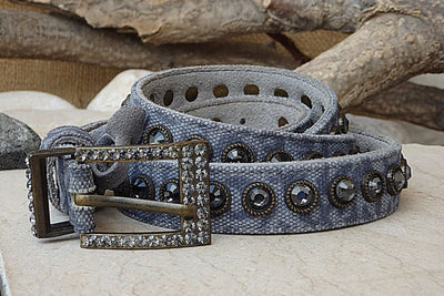 Jeans Textile Belt. Blue Leather Belt. Buckle Belt For Women. Womens Blue Belt. Leather Cotton Textile Belt . Gray Crystal Suede Blue Belts