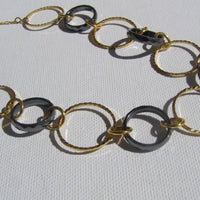 Long Gold Hoop Necklace