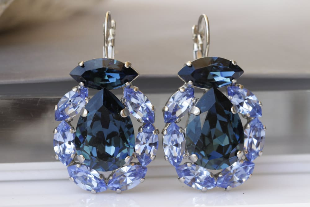 Navy Blue Earrings