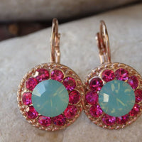 Opal Fuchsia Drop Earrings