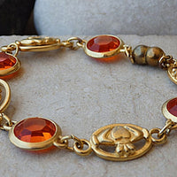 Orange Bracelet. Magnet Bracelet. Orange Jewelry