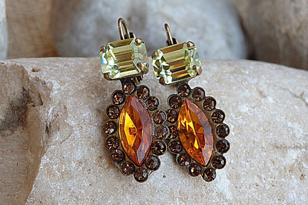 Orange Halo Earrings