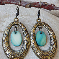 Oval Textured Earrings