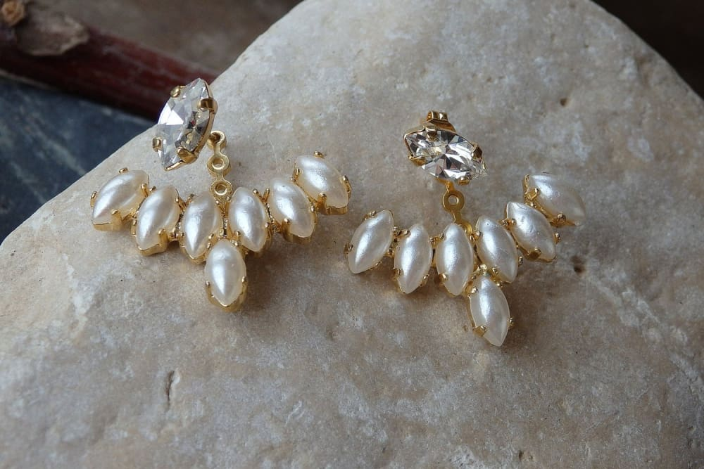 Pearl Ear Jacket Earrings