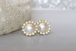 Pearl White Studs