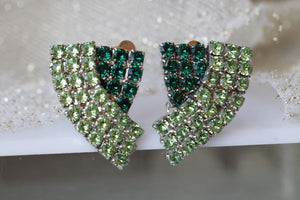 Peridot Clip Earrings
