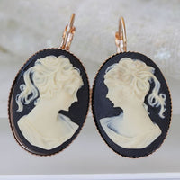 Portrait Cameo Earrings