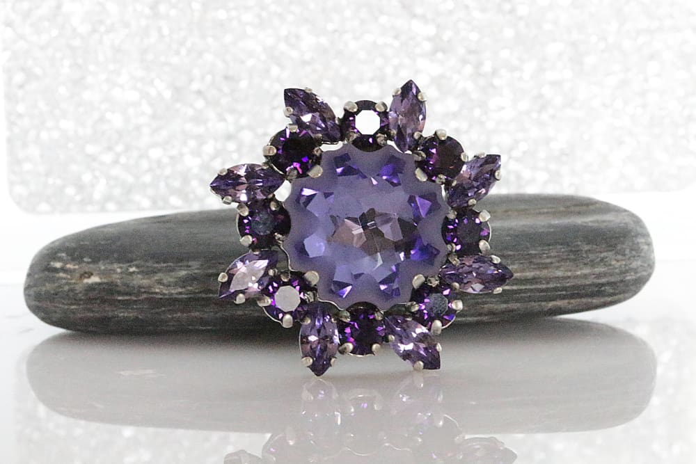 Purple Crystal Ring