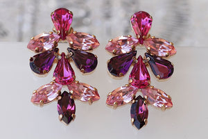Purple Pink Earrings