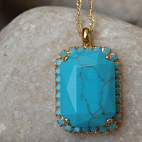 Rectangle Turquoise Necklace