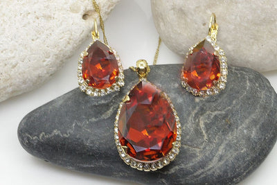 Red Jewellry Set