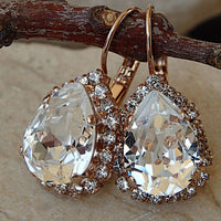 Rhinestone Clear Swarovski Earrings