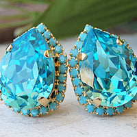 Rhinestone Clip On Earring