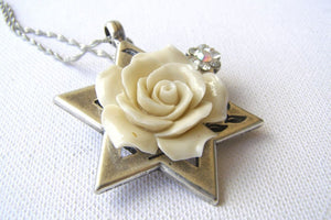 Romantic Rose Star Of David Jewelry