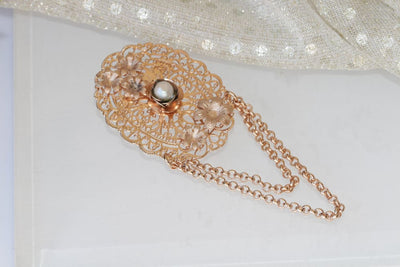 Rose Gold Brooch