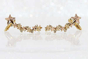 Rose Gold Ear Climber Earrings