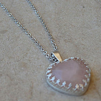 Rose Quartz Heart Necklace