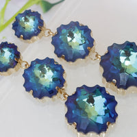 Royal Blue Earrings. Royal Blue Long Earrings