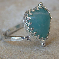Silver Agate Ring