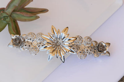 Silver Hair Barrette