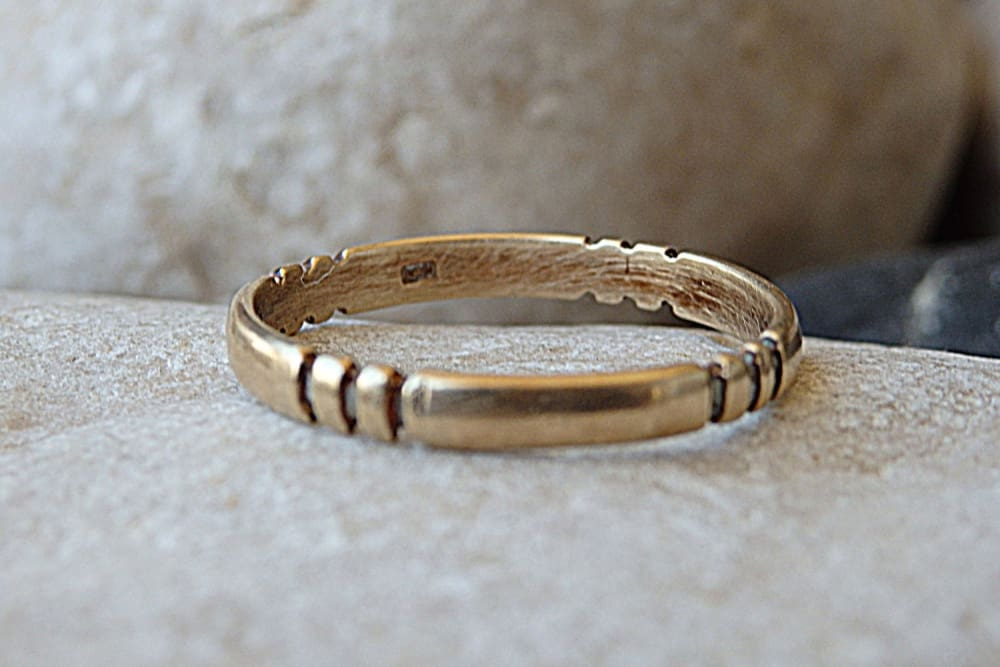 Simple Wedding Band. 14K Solid Gold Ring. Womens Mens Gold Wedding Band For Him Her. Wedding Gold Band Ring. Solid Gold Wedding Band Ring