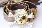 Skull Leather Belt