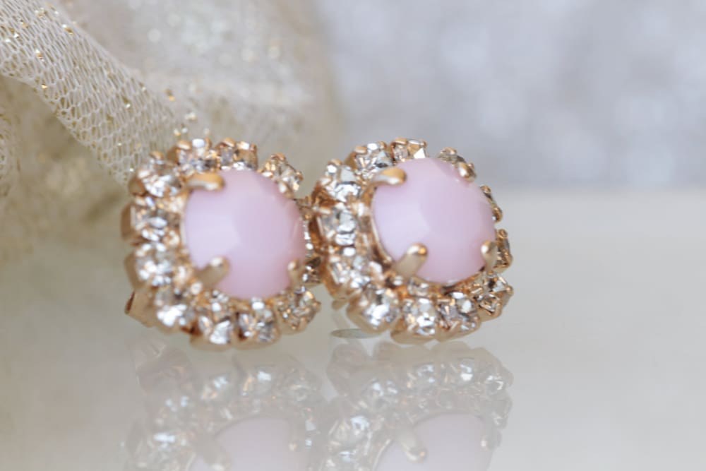 Small Pink Earrings