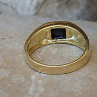 Square Onyx Signet Ring. Goldfilled Ring. Women Signet Ring. Rings For Him Her. Gold Onyx Ring. Black Stone Ring.onyx Mens Signet Gold Ring