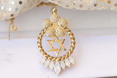 Star Of David Pendant Necklace